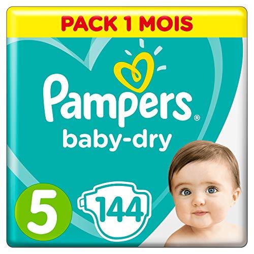 Pampers Baby-Dry, Pannolini, Taglia 5( 11- 16kg), Confezione da 144 pezzi