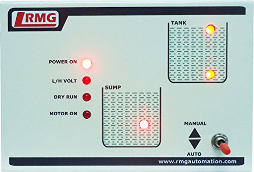 RMG Fully Automatic Water Level Controller for Motor Pump Operated by Starter Upto 1.5 HP, Tank and Sump