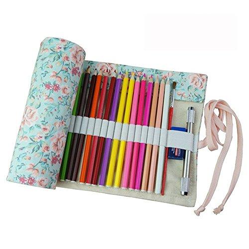 Fablcrew - Astuccio multiuso per matite, in tela, arrotolabile, da 36, 48, 72matite 95*21cm 72...
