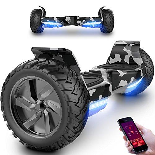 MARKBOARD Hover Board Elettrico con Bluetooth Scooter con Ruote 8.5 inch (Verde)