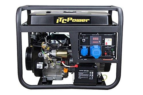 ITCPower, GG9000LE, Generador Gasolina, 6000 W, 230 V, Negro