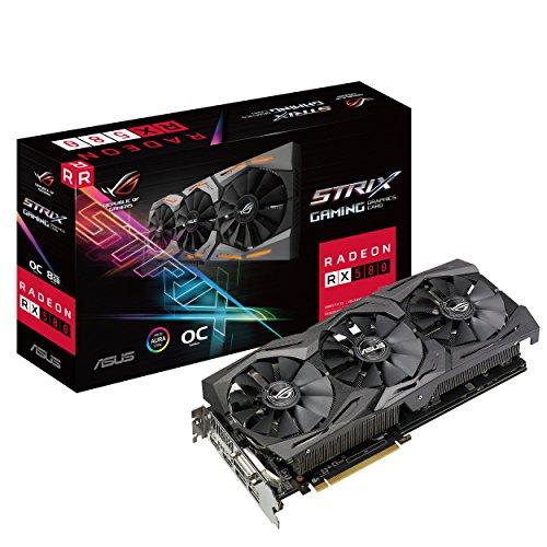 ASUS ROG Strix Radeon RX 580 OC Edition - Tarjeta gráfica (8 GB GDDR5, 256...