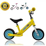 Toddler Bike, No Pedal Infant Balance Bike for 1.5 2 3 Year Old Boy Girl Walking Toddler Bicycle with Aluminum alloy Frame, Adjustable Handlebar and Seat Ride On Toys, 18 Months to 3 Years, Yellow