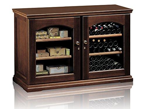 Ip Industrie - Cantinetta climatizzata legno massello due porte doppio vetro 2 celle indipendenti...