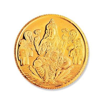 Joyalukkas 22k (916) 4 gm BIS Hallmarked Yellow Gold Precious Coin with Lord Lakshmi Design 4