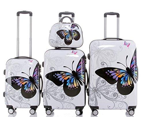 Butterfly 2060 4tlg Reisekofferset Trolley Gepäckset Reisekoffer Hartschalen Kofferset