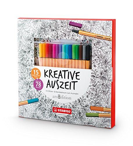 Stabilo creativo Auszeit libro da colorare Motivi mandala multicolore