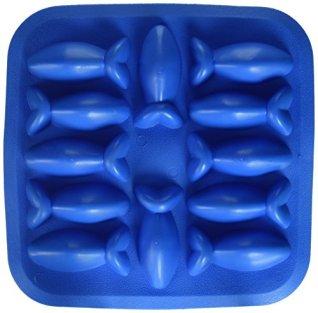 Flexibel-12-Formen-in-Fischform-Eiswrfelform-blau-Gummi-Neuheit-Gag-Geschenk