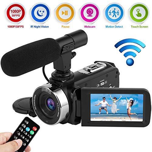 Videocamera Telecamera Videocamere Full HD 1080P 30FPS WiFi Macchina Fotografica Digitale 24.0MP IR...