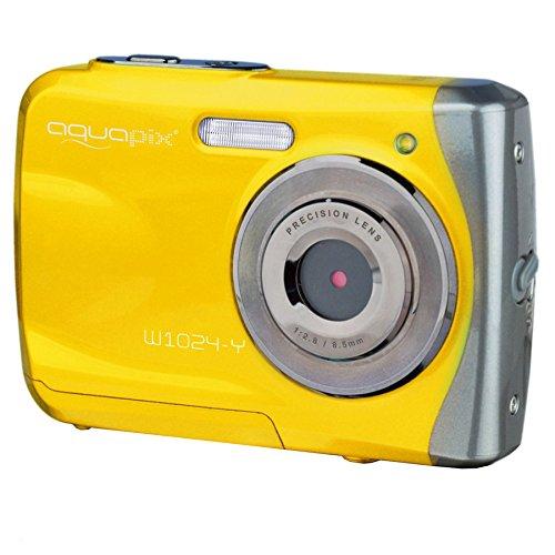 """Easypix W 1024-Y Splash - Cámara compacta de 16 Mp (pantalla de 2.4"""", zoom digital 4x) color amarillo"""