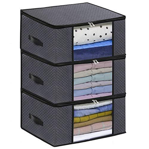 homyfort Set di 3 Pieghevole organizzatore Armadio - scatole Armadio in Tessuto - Sacchetto di...