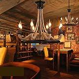CLLCR Sala de Estar Araña, Restaurante Decoración Araña Nordic Industrial Vientos Retro Restaurante Creative American Village Bar Café Internet Cafés Arte Hemp Cuerda Luces