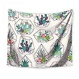 Manta Para Playa Diseño Terrarios Cactus