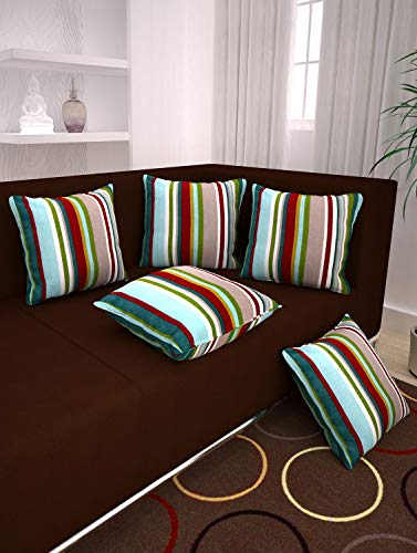 Story@Home White Premium Printed Cushion Cover Set Of 5 Pcs