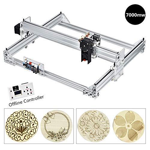 HUKOER 7000MW Laser Maschine DIY Kits 40 × 30 cm CNC Laserschneid CarvingGraviermaschine für Leder, Kunststoff, Holz, Bambus, Horn