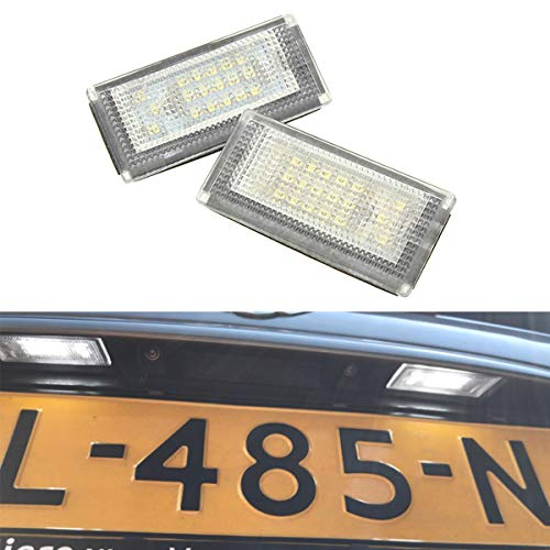 GOFORJUMP Luci Targa automobilistica a LED 12VFor B/MW Mini Cooper S R50 R52 R53 Accessori 2X Lampadina Bianca SMD a LED Kit Lampada Targa