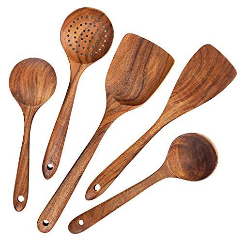 Küchenhelfer Set Holz,5 Stück Küchenutensilien