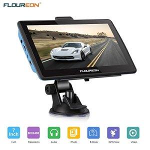 FLOUREON Navigationsgerät LCD Touchscreen GPS Navigation NAV Navigator 2