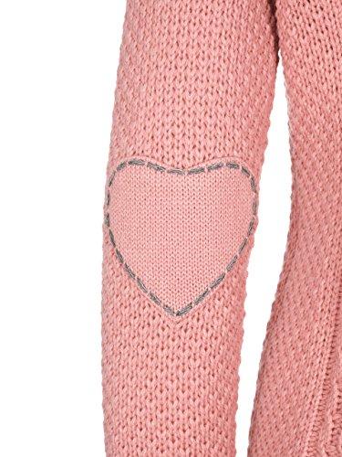 Almbock Strickjacke Reißverschluss Damen | Hochwertige Trachten Strickjacke | Trachtenjacke Damen aus Feiner Wolle in Vielen Farben von Gr. S - XXL (Altrosa, XXL) - 4