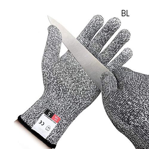 Yissma Guanti Cut Protection Guanti Resistenti al Taglio Protezione Strong Level 5 Extra, per orto o...