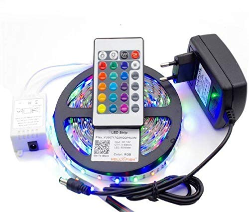 Running RGB (Red Green Blue) LED Strip with Remote Control