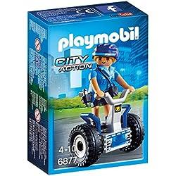 Playmobil Policía- Policewoman with Balance Racer Playset, (6877)