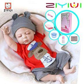 ZIYIUI 18pulgadas 45cm Cuerpo Completo de Silicona Impermeable Reborn Baby Doll Recién Nacido Realistic Baby Doll…