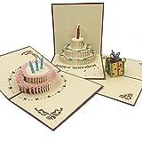 XYZ IDEA Postales Pack de 8 Postales Espectaculares Bonitas y Originales con Diseños 3D en el Interior. Perfectas para Regalo, Cumpleaños, Bodas, Día del Padre, Día de la Madre, San Valentin o Cualquier otra Fecha Importante. Tarjetas de Felicitación.