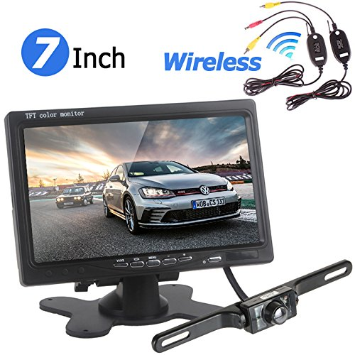 Wireless Car parking Assistances - BW 17,8 cm 800 x 480 RGB display digitale auto monitor + 420 TVL CMOS wireless auto telecamera per la retromarcia supporta visione notturna