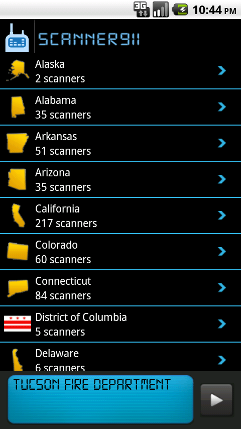 Scanner 911 Pro - Police Scanner and Police Radio, Fire Radio and Emergency Talk Screenshot