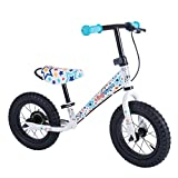 Kiddimoto Steel Frame Balance/Running Bike with Brakes, for Kids, Toddlers, pre-School. Learn to Ride - Stars
