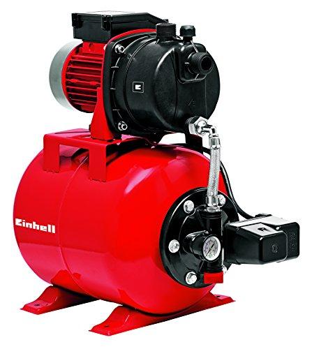 Einhell 4173193 Hauswasserwerk GC-WW 6538 Set (650 W, 3800 L/h Fördermenge, max. Förderdruck 3,6 bar, Druckschalter, Manometer, 20 L Behälter)