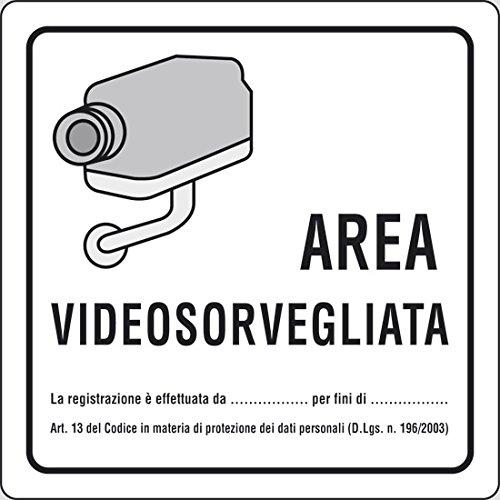 Cartello 'Area Videosorvegliata' In Alluminio.