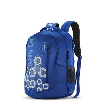 Skybags New Neon Polyester 1850 cm Blue Spacious School Backpack-32 Litres 4