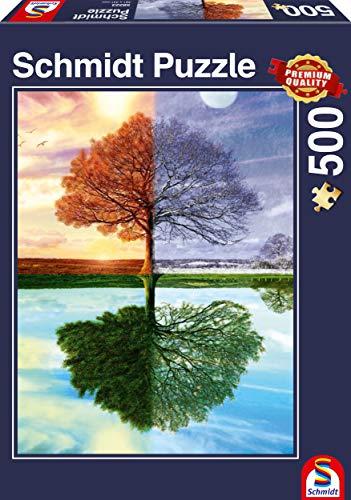 Schmidt Puzzle L'Albero delle Quattro Stagioni 500 Pezzi, 58223