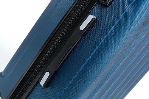 BEIBYE TSA-Schloß 2080 Zwillingsrollen 3 tlg. Reisekofferset Koffer Kofferset Trolley Trolleys Hartschale (Hellblau) - 3