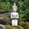 Estatua de Buda de piedra Drift Madera interiores y exteriores de jardín de efecto arrodillado figura 7