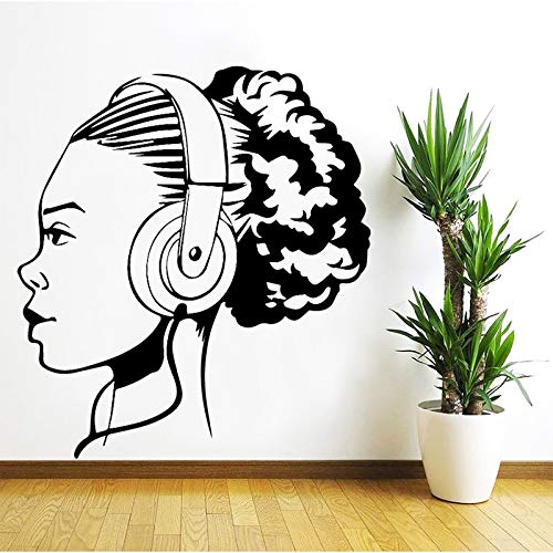 Music Girl Wall Sticker Home Decoration Accessori Autoadesivi Wall Stickers per soggiorno Camera da...