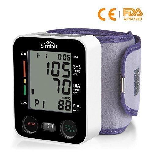 SIMBR Misuratore di Pressione da Polso Digitale per Uso Domestico Completamente Automatico e...