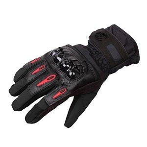 DOXUNGO Unisex Motorradhandschuhe wasserdicht warm Winterhandschuhe stoßfest Herren Touchscreen Handschuhe Herbst Winter für Motorrad Radfahren Wandern Outdoor Sport 8