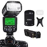 Flash Speedlite per Canon,ESDDI E-TTL Kit Flash professionale con trigger flash wireless, 1/8000 HSS Wireless Flash Speedlite GN58 2.4G Master slave wireless