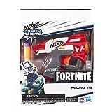 Nerf E6745EL2 Fortnite TS MicroShots Lanzador de Juguete y 2 Dardos Oficiales Elite, múltiples