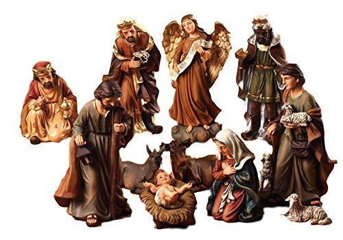 Idea Natale: Presepe natività composto da 11 statue alte fino a 20 cm