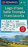 KOMPASS Wanderkarte Lago d'Iseo, Valle Trompia, Franciacorta: 4in1 Wanderkarte 1:50000 mit Aktiv Guide und Detailkarten inklusive Karte zur offline ... Fahrradfahren. [Lingua tedesca]: 106