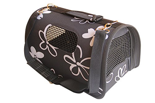 BPS (R) Portador Transport铆n Bolsa Bolso de Tela para Perro, Gato, Mascotas, Animales,Tama帽o: L,51x26x29cm BPS-2120-2 (Negro)