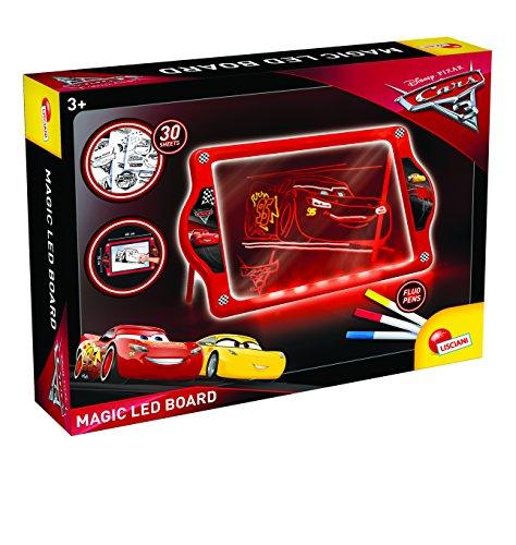 Lisciani Giochi- 62454-Cars 3 Lavagnona Magica LED Fluo, 62454