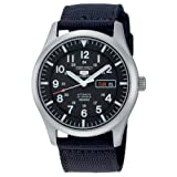 Seiko Men's Analogue Automatic Watch with Textile Strap - SNZG15K1
