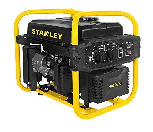 Stanley 604800120Sig 2000–1Generador Inverter, 2000W, 230V, Negro, Amarillo