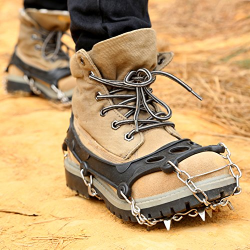 OUTAD 18 Teeth Stainless Steel Crampons 8