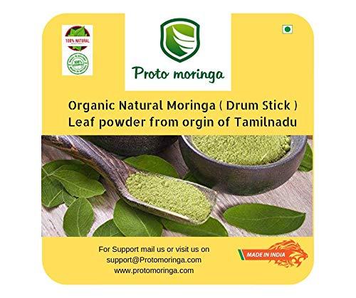 Proto Moringa - Organic Moringa Leaf Powder (30 servings), Fresh stock, High protein, High fibre, Plant-based nutrition, Iron rich, Detox diet, Weight loss, No added sugar, 200 gm